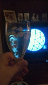 Glass of Champagne at New Year